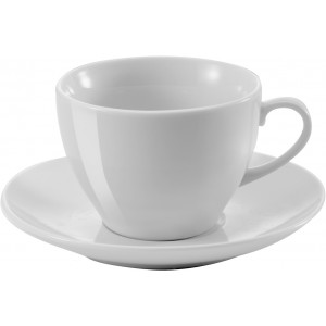 Porcelán kávés- vagy teásbögre alátéttel
